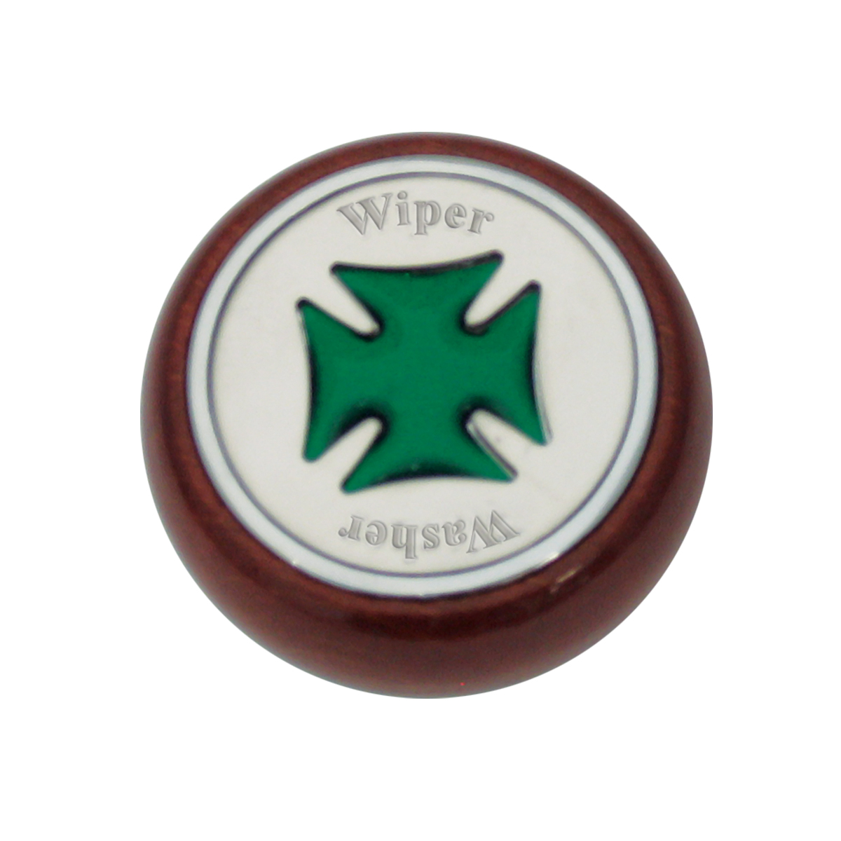 95403 Green Iron Cross Dashboard Control Knob w/ Wiper/Washer Script