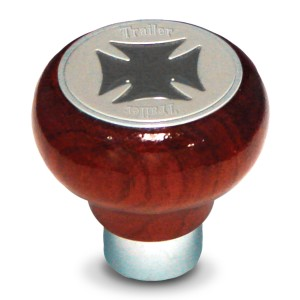 Rosewood Screw-In Air Valve Control Knobs with Iron Cross