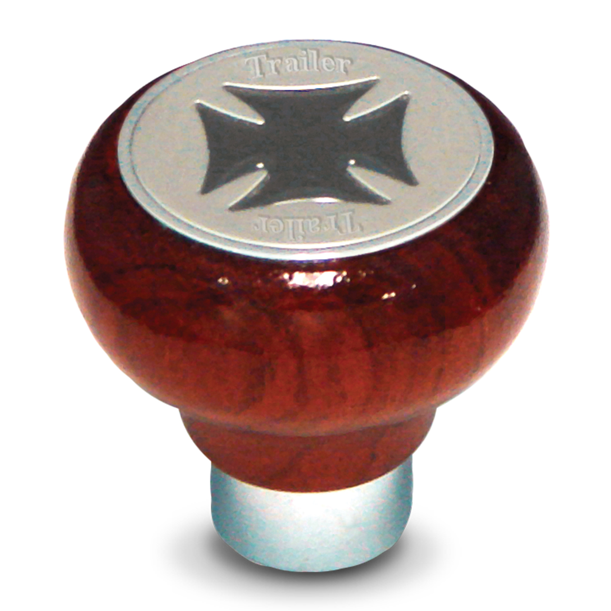 95560 Iron Cross Screw-In Air Valve Control Knob w/ Tractor Script