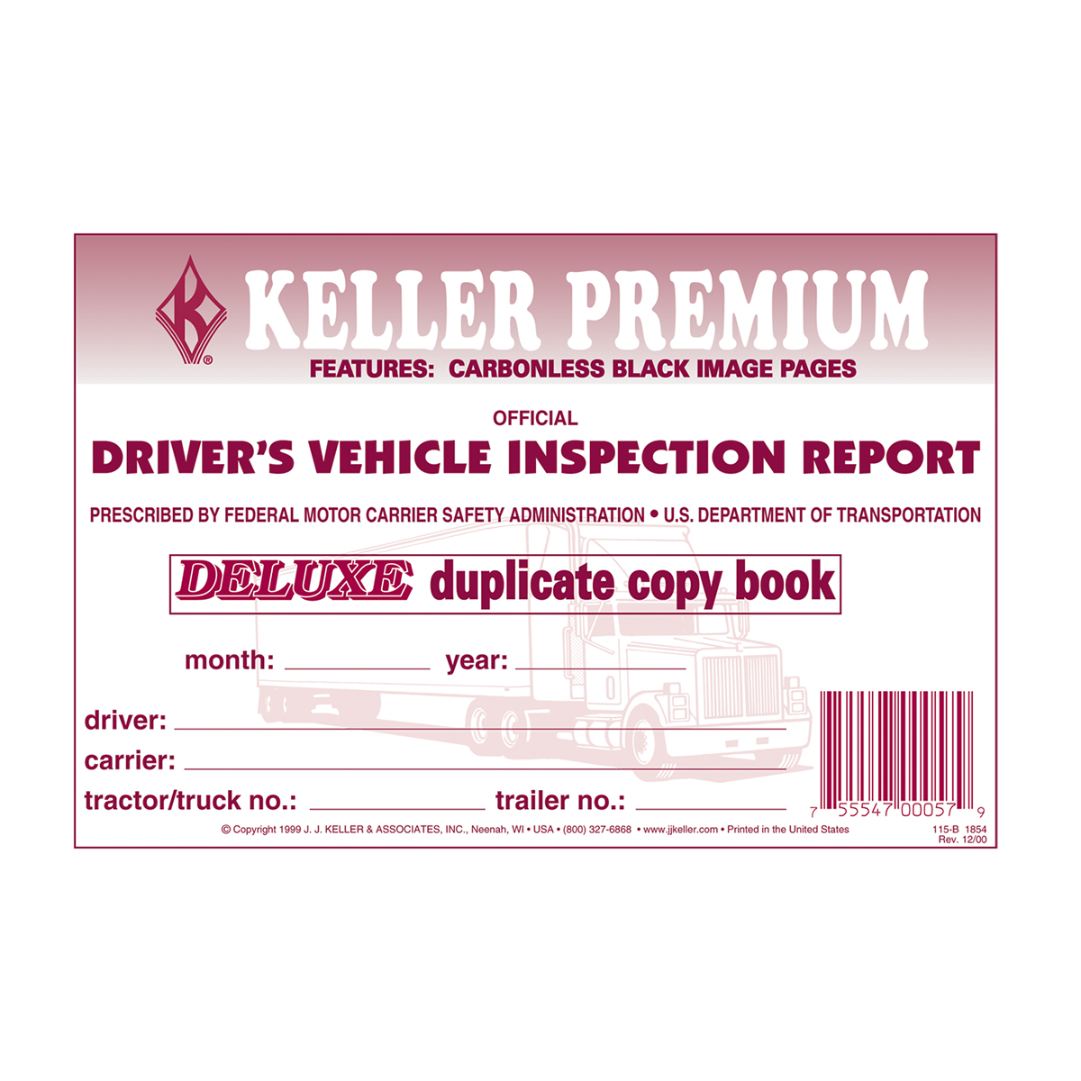 99902 Detailed Driver Vehicle Inspection Report Carbonless