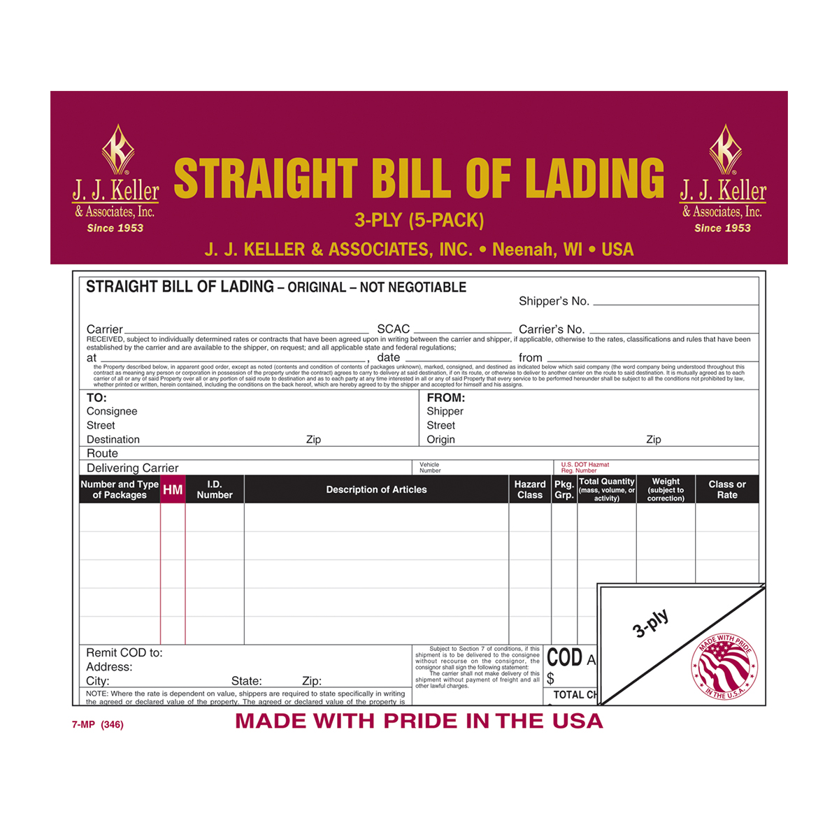 Straight Bills of Lading