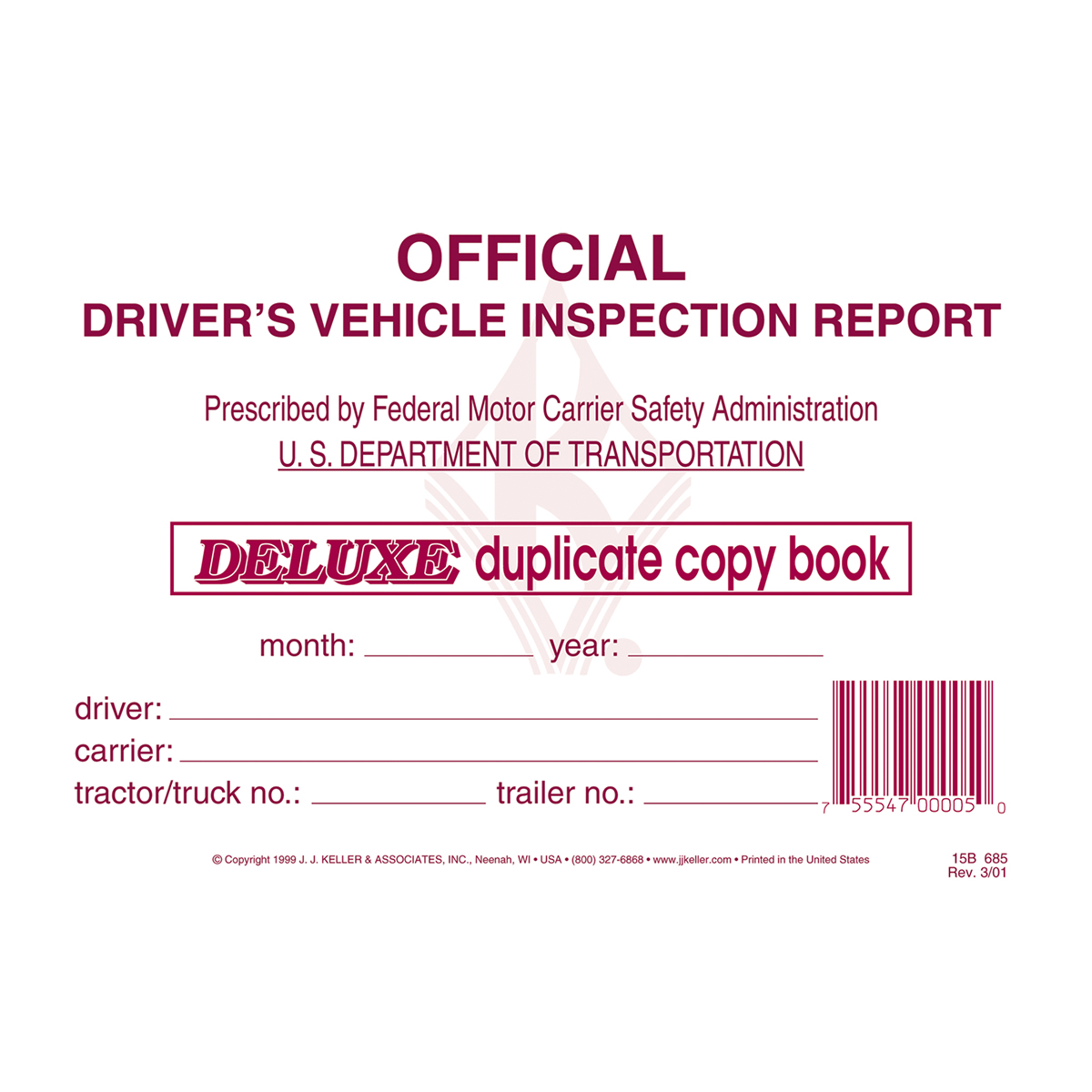 99907 Detailed Driver Vehicle Inspection Report with Carbon