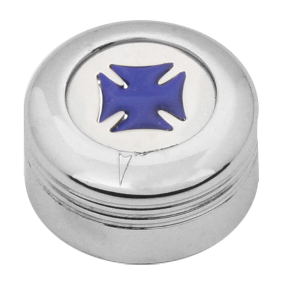 Chrome Plastic A/C Knob w/ Blue Iron Cross for Pete