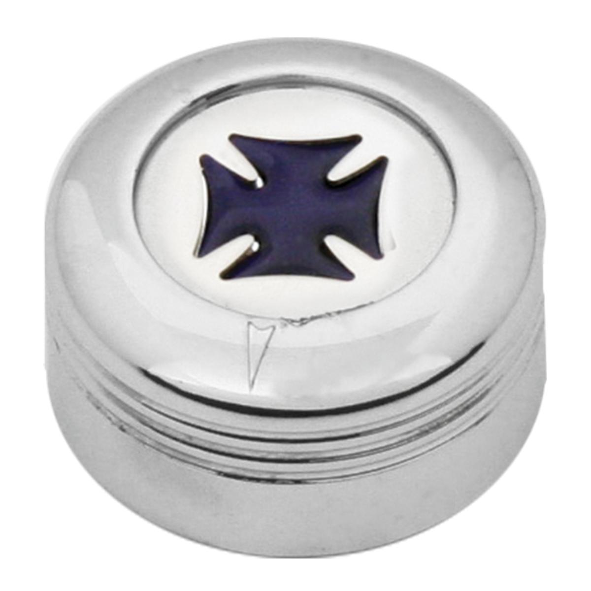 Chrome Plastic A/C Knob w/ Purple Iron Cross for Pete