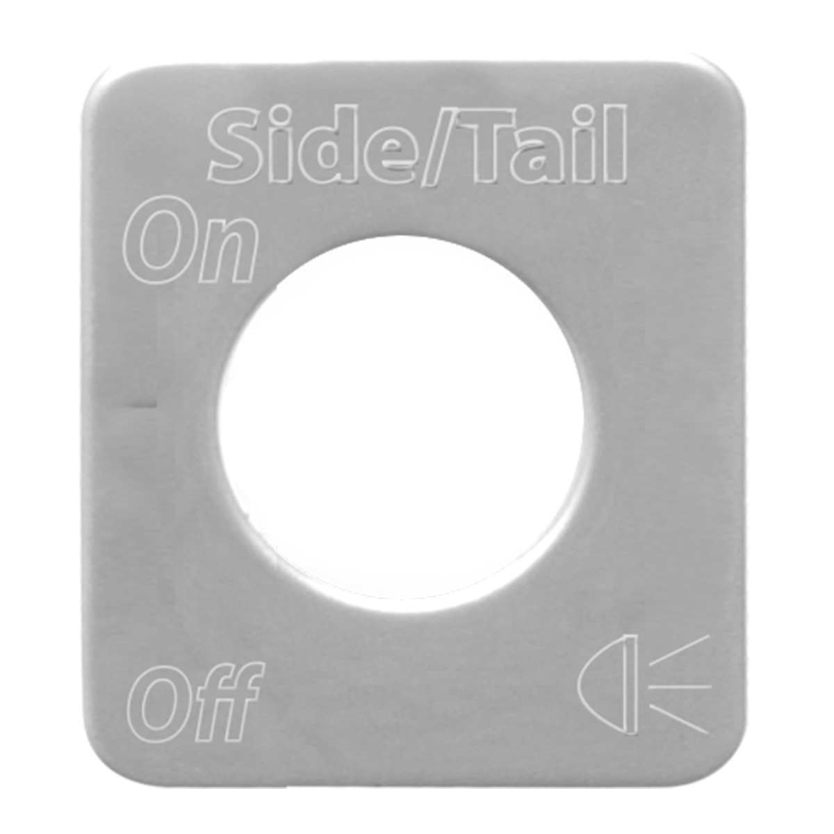 68520 Stainless Steel Side/Tail Light Switch Plate for KW