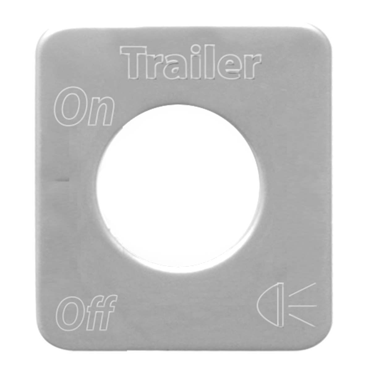 68524 Stainless Steel Trailer Light Switch Plate for KW