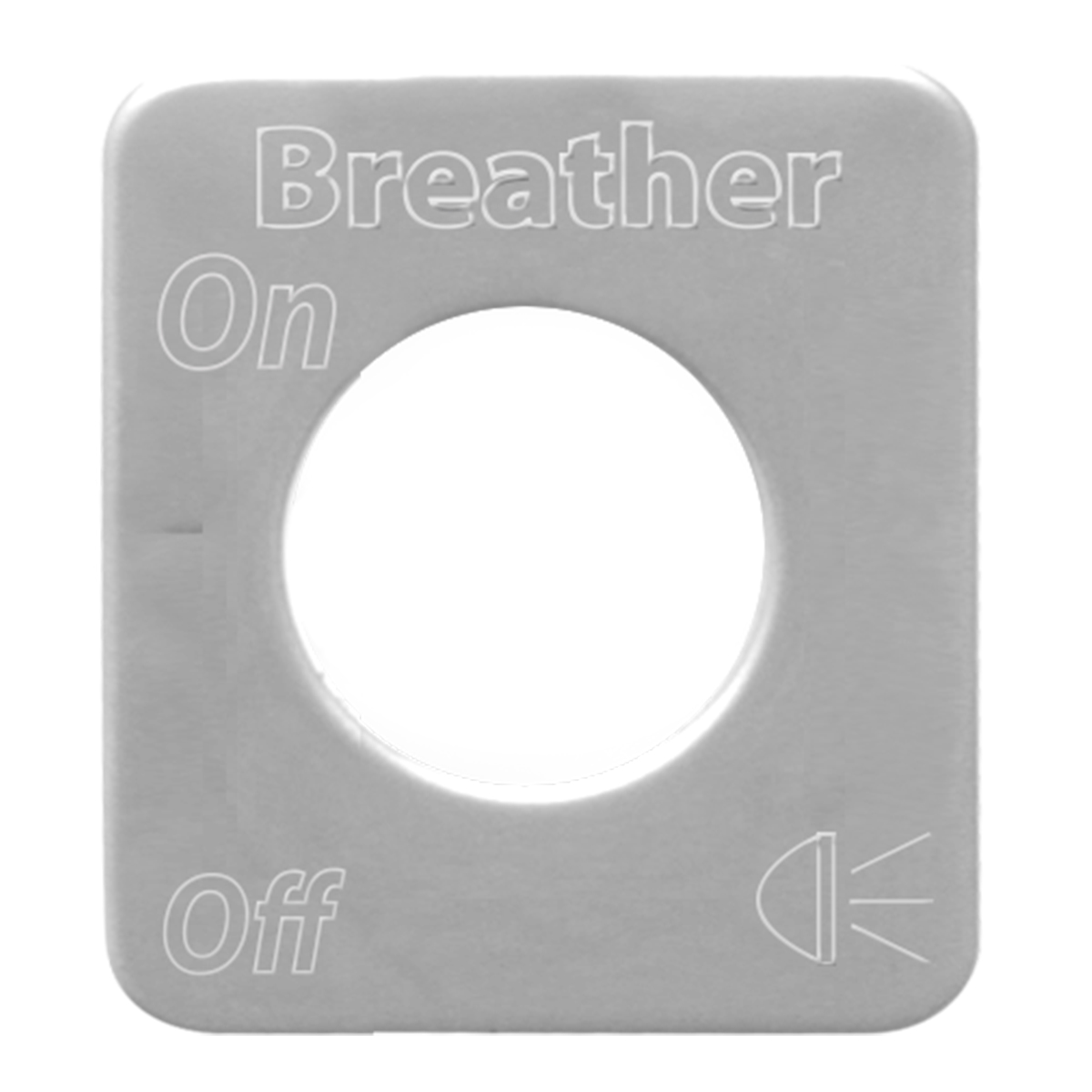 68526 Stainless Steel Breather Light Switch Plate for KW