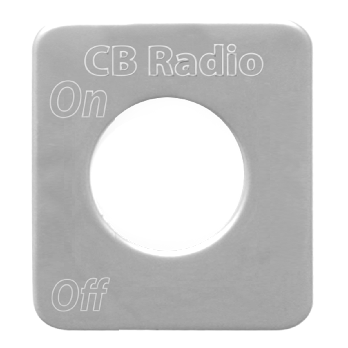 68530 Stainless Steel CB Radio Switch Plate for KW