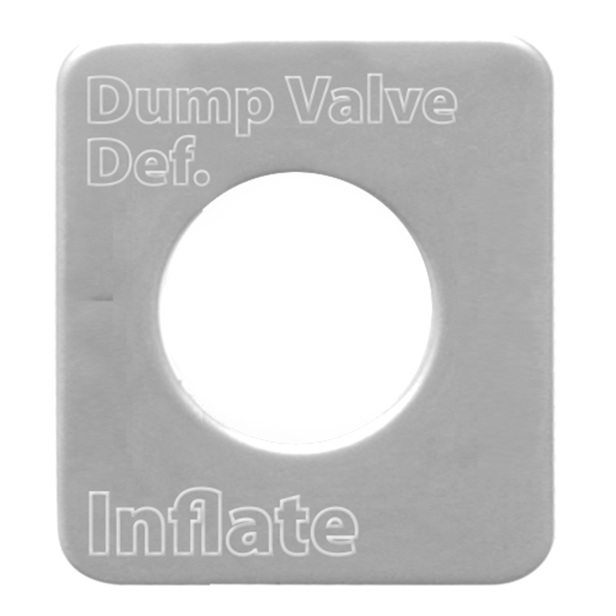 68535 Stainless Steel Dump Valve Switch Plate for KW