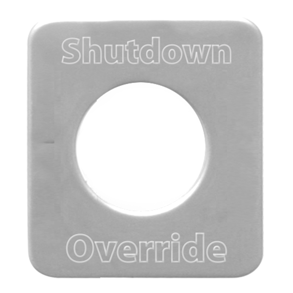 68543 Stainless Steel Shutdown Override Switch Plate for KW
