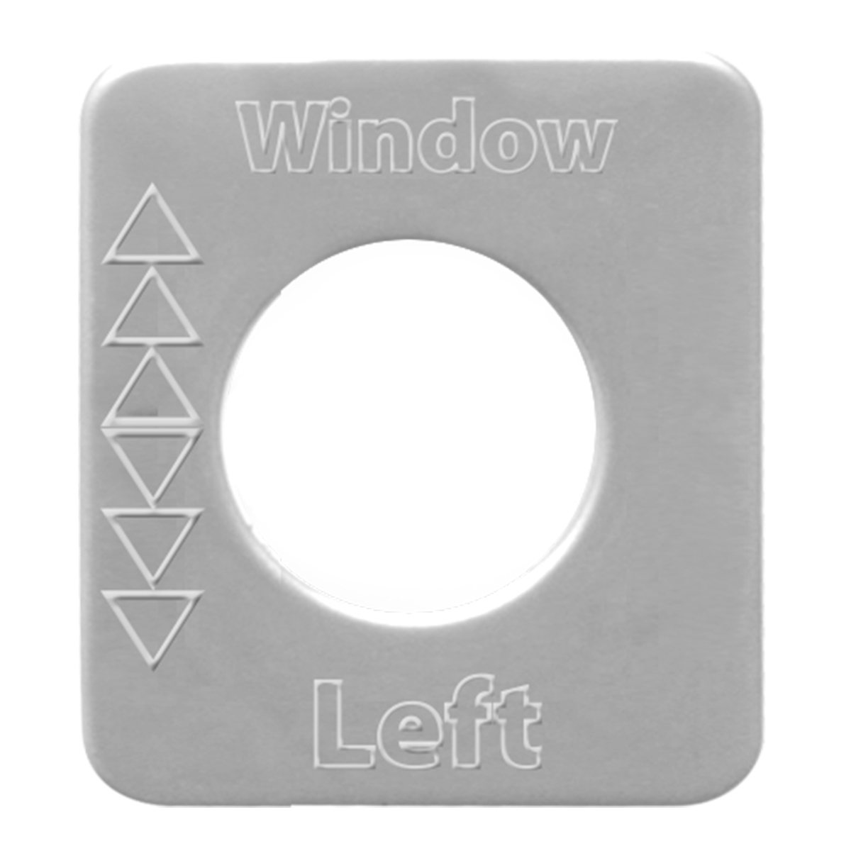 68545 Stainless Steel Left Window Switch Plate for KW