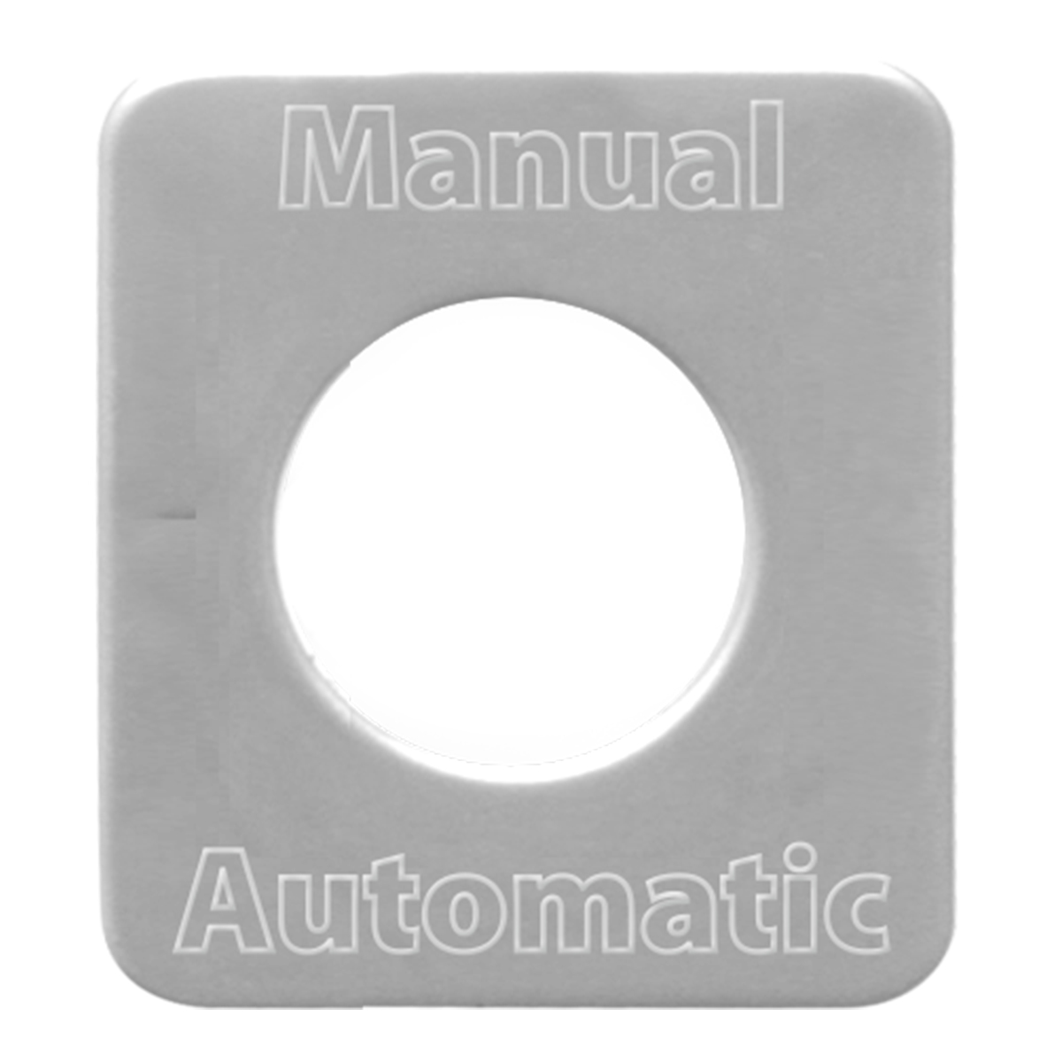 68583 Stainless Steel Manual Automatic Switch Plate for KW