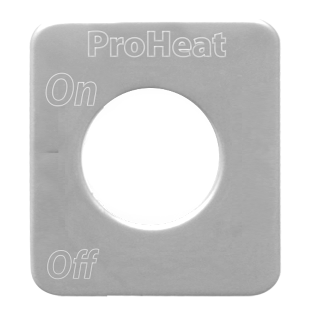 68589 Stainless Steel Proheat Engine Heater Switch Plate for KW