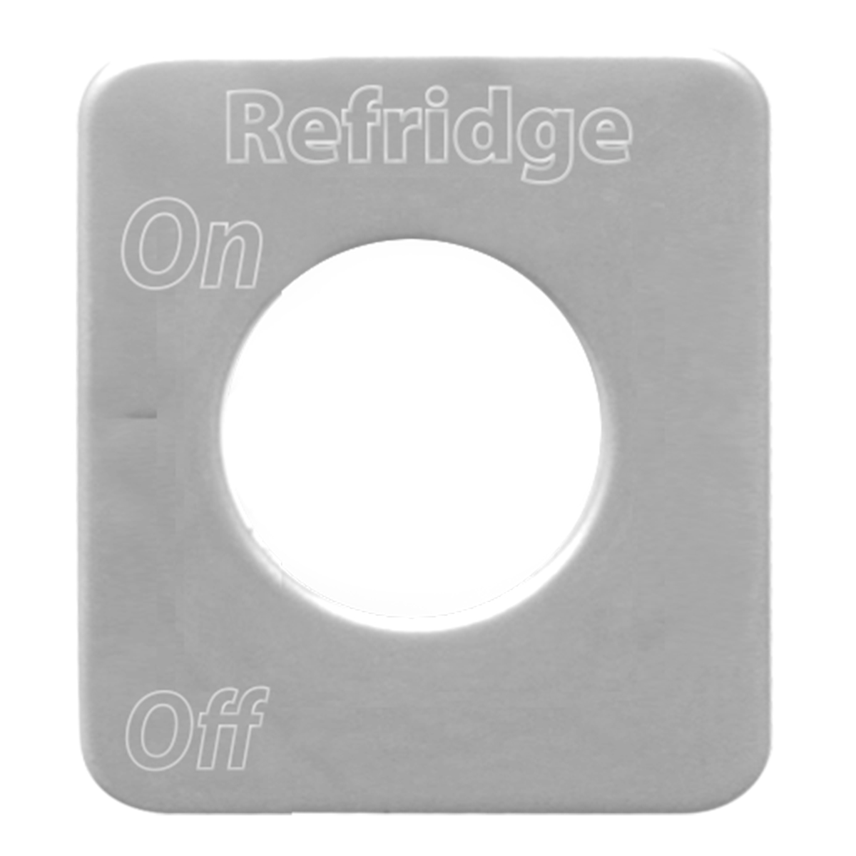 68591 Stainless Steel Refridge Switch Plate for KW