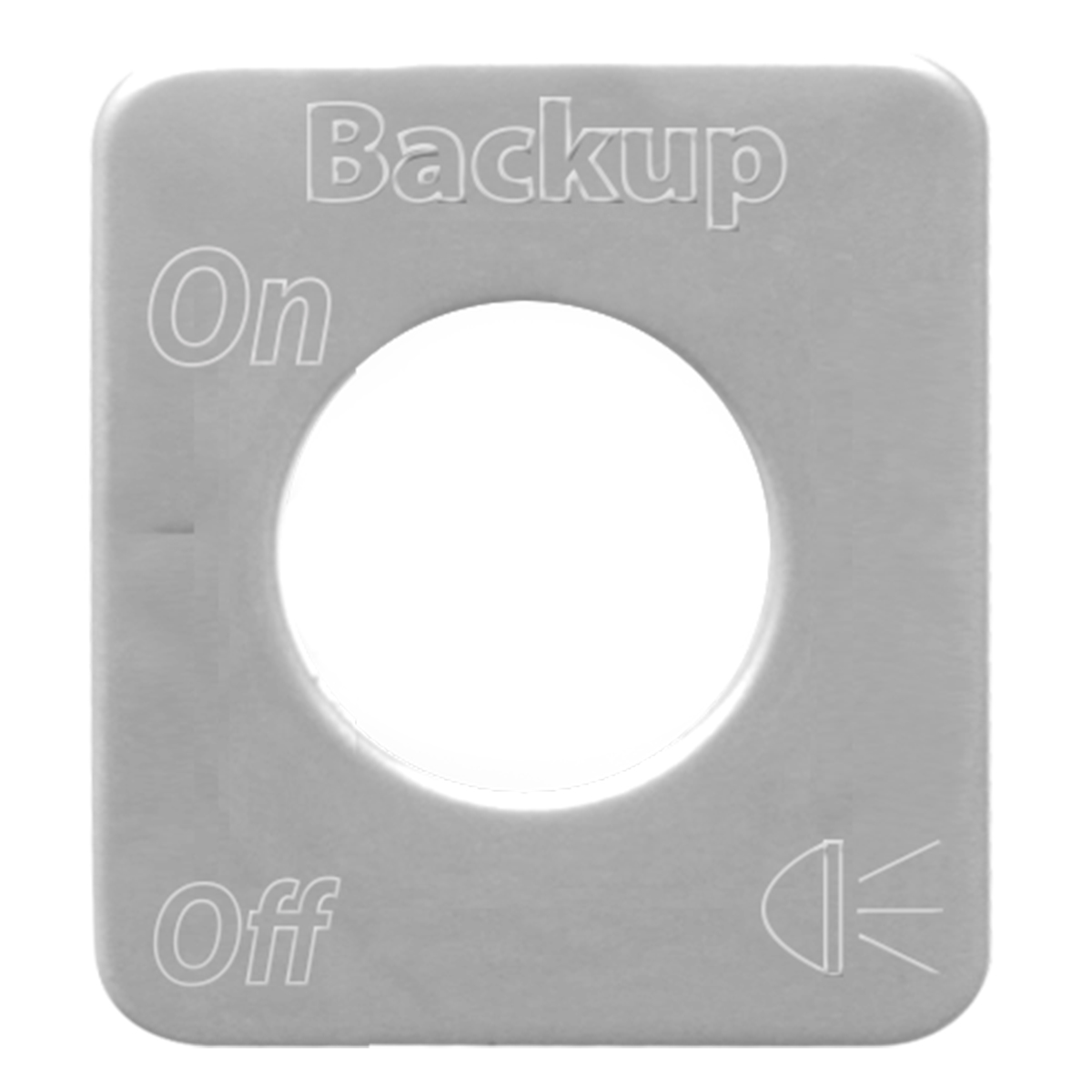 68601 Stainless Steel Backup Light Switch Plate for KW