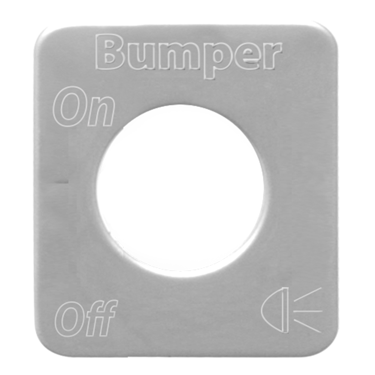 68603 Stainless Steel Bumper Light Switch Plate for KW