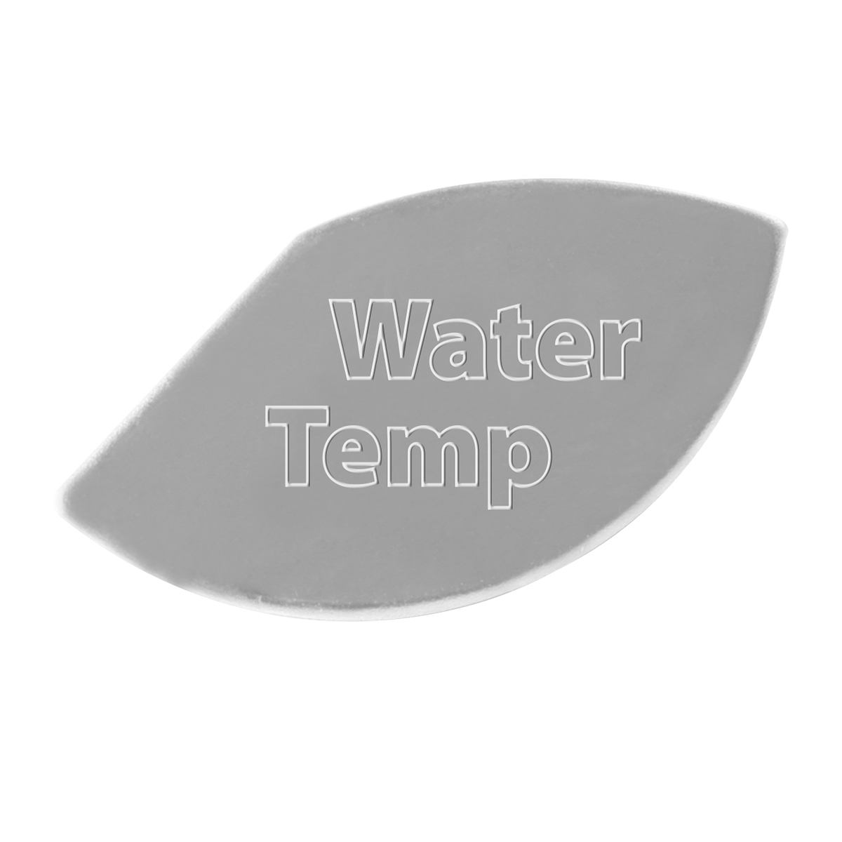 68655 Stainless Steel Water Temperature Gauge Emblem for KW