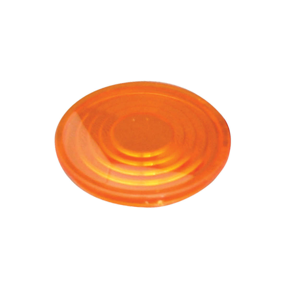 "68970 Pete Plastic 1-9/16"" Round Dome Light Lens"