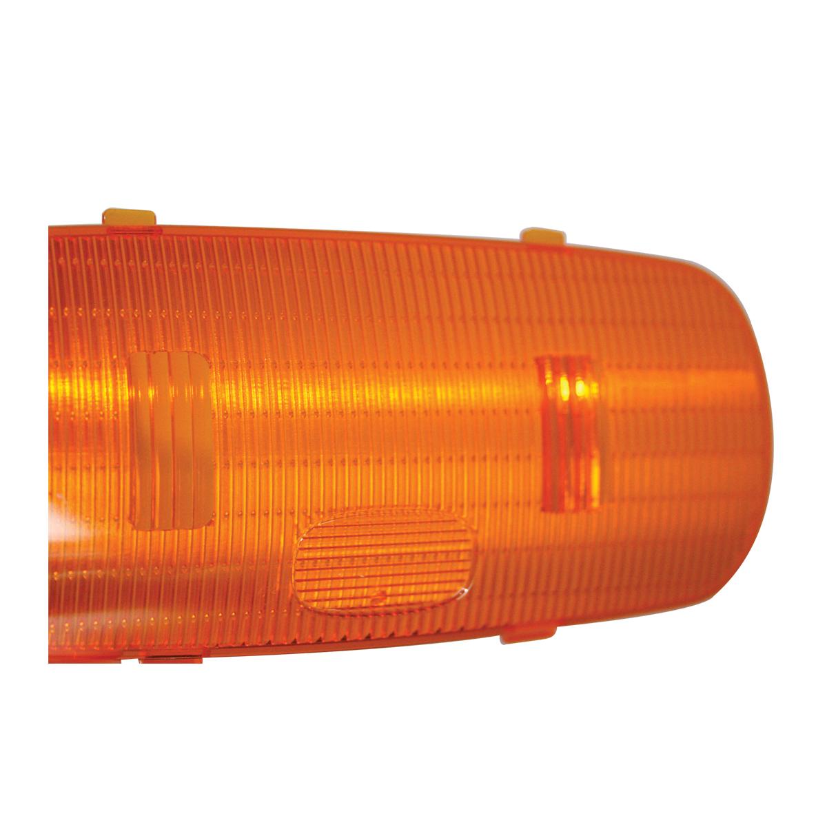 69020 Plastic Amber Oval Dome Light Lens