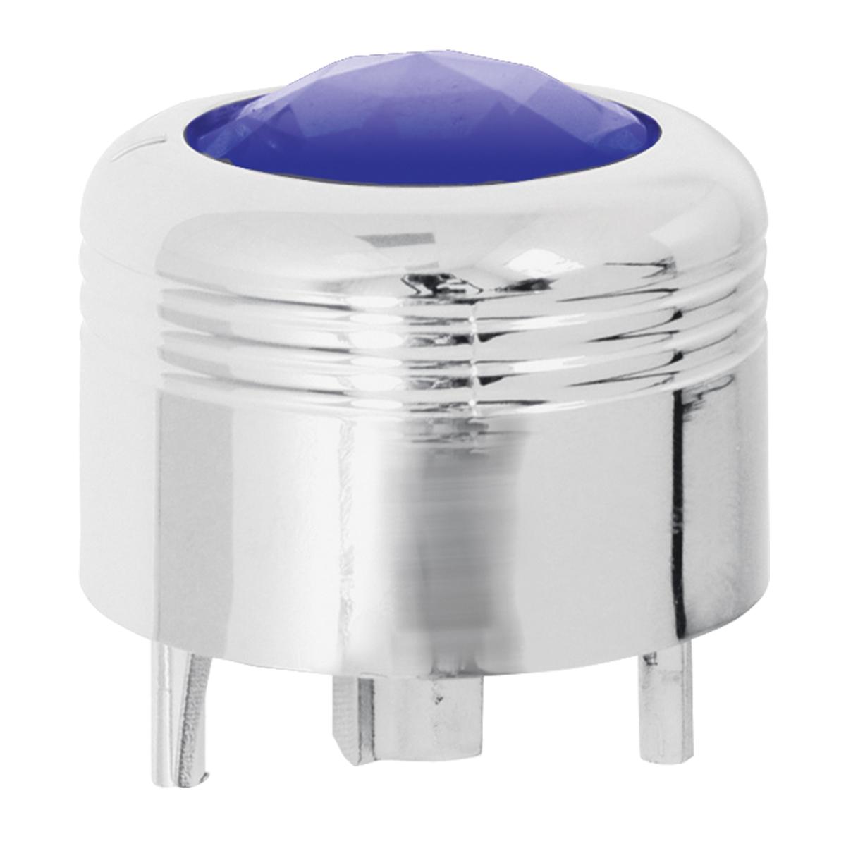 69041 Chrome Plastic A/C Knob w/ Blue Plastic Crystal for Pete