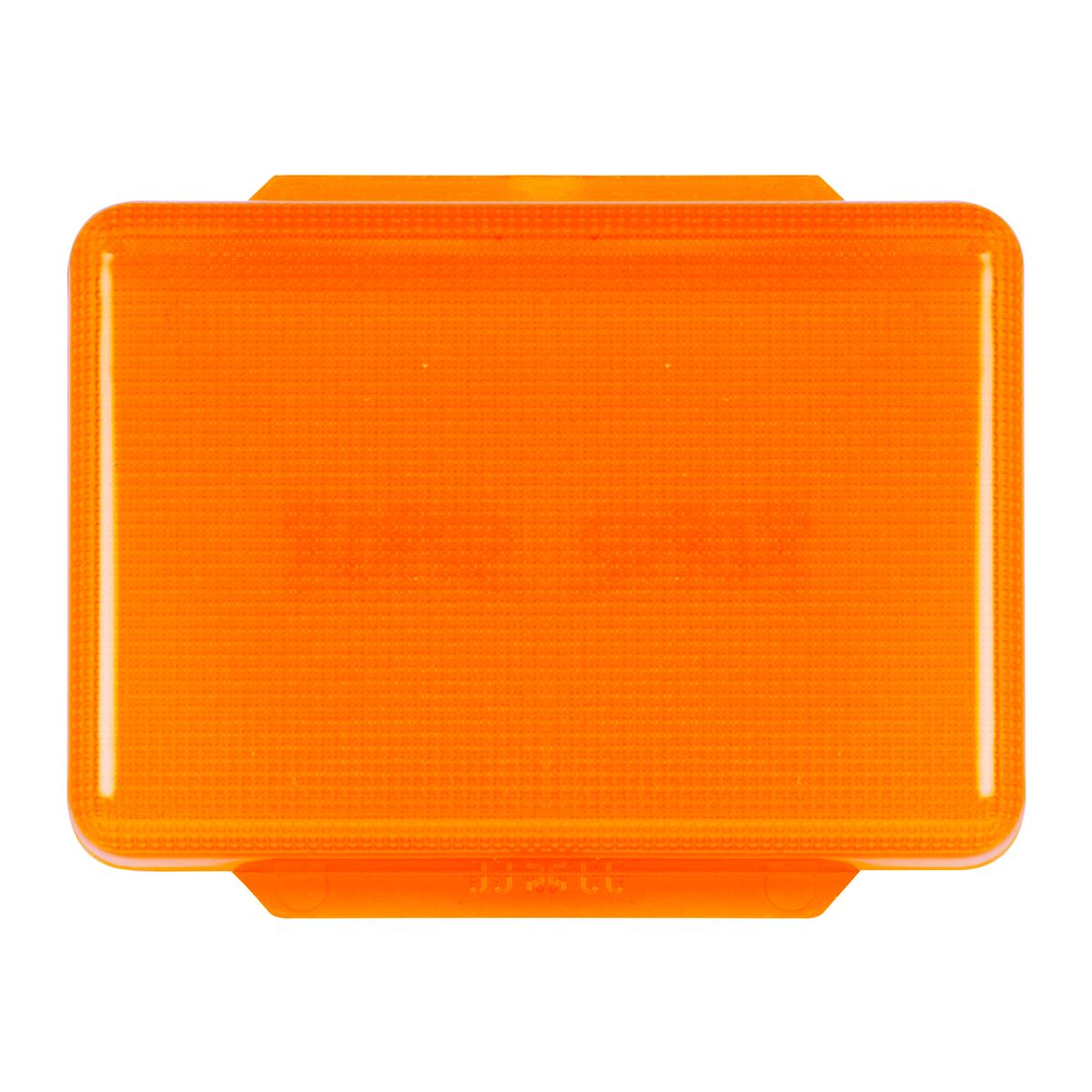 Pete Rectangular Amber Dome Light Lens