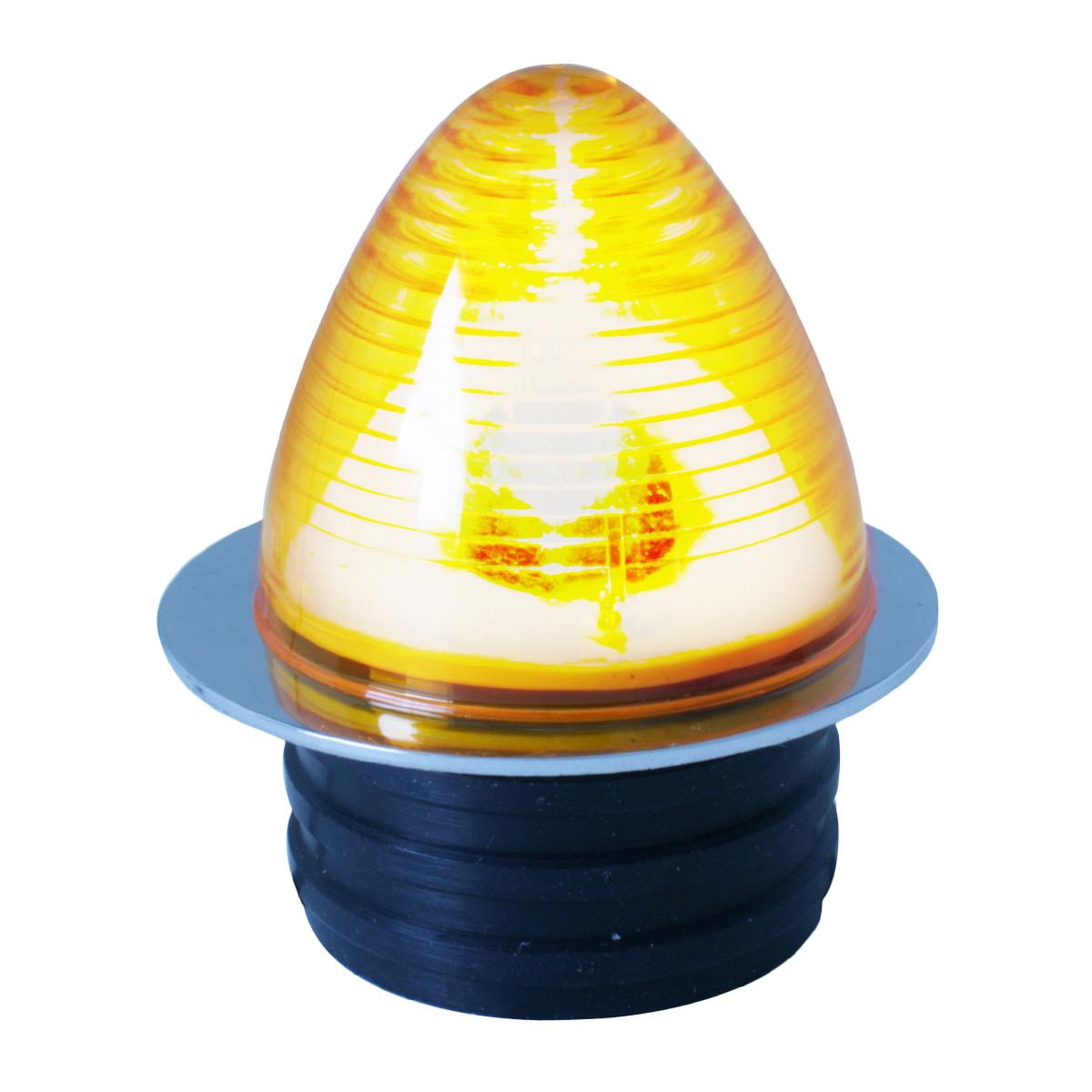 84080 Amber Flap Holder Light w/ Chrome Steel Base