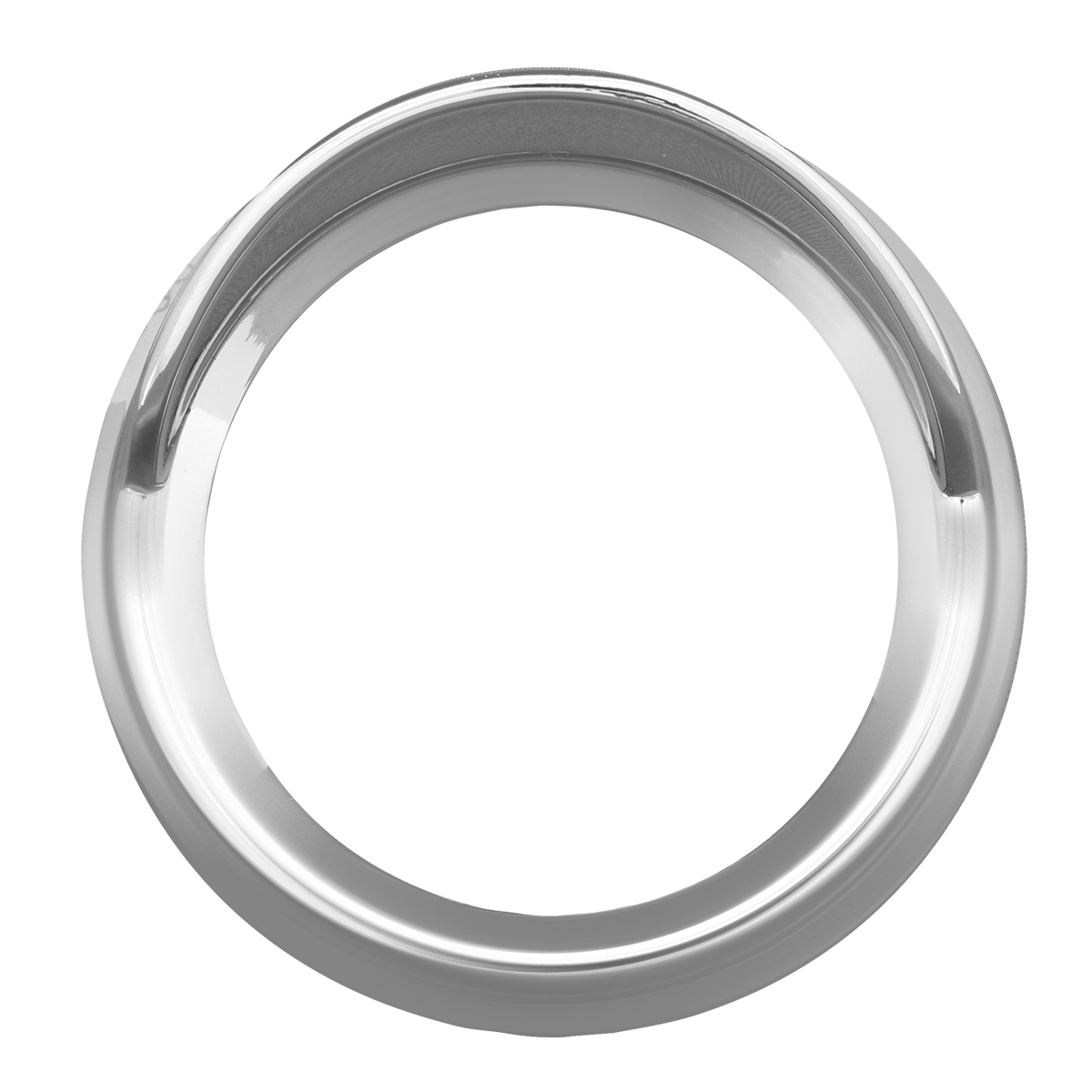 68392 Chrome Plastic Pyrometer Snap-On Gauge Cover w/ Visor for KW