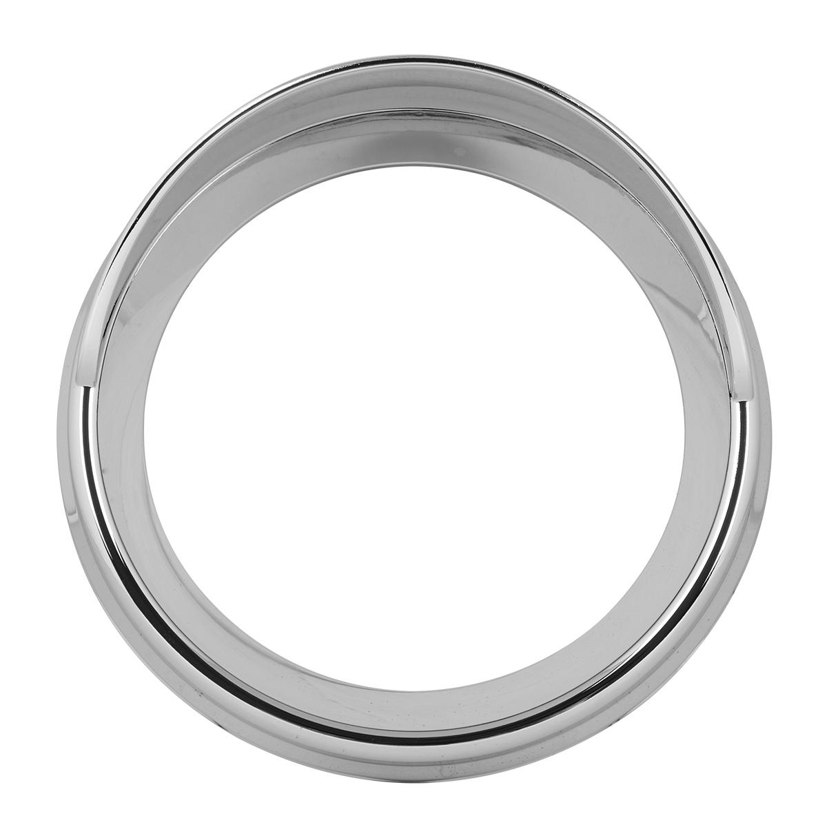 68396 Chrome Plastic Speed/Tachometer Snap-On Gauge Cover w/ Visor for KW