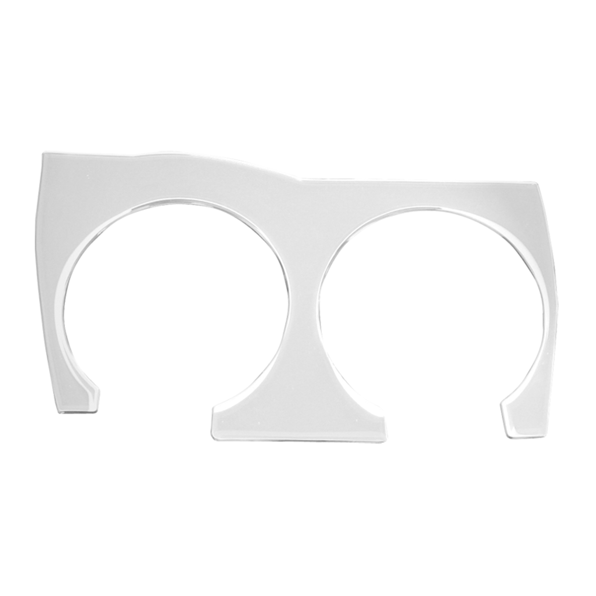 68918 KW Chrome Soft Plastic Cup Holder Trim