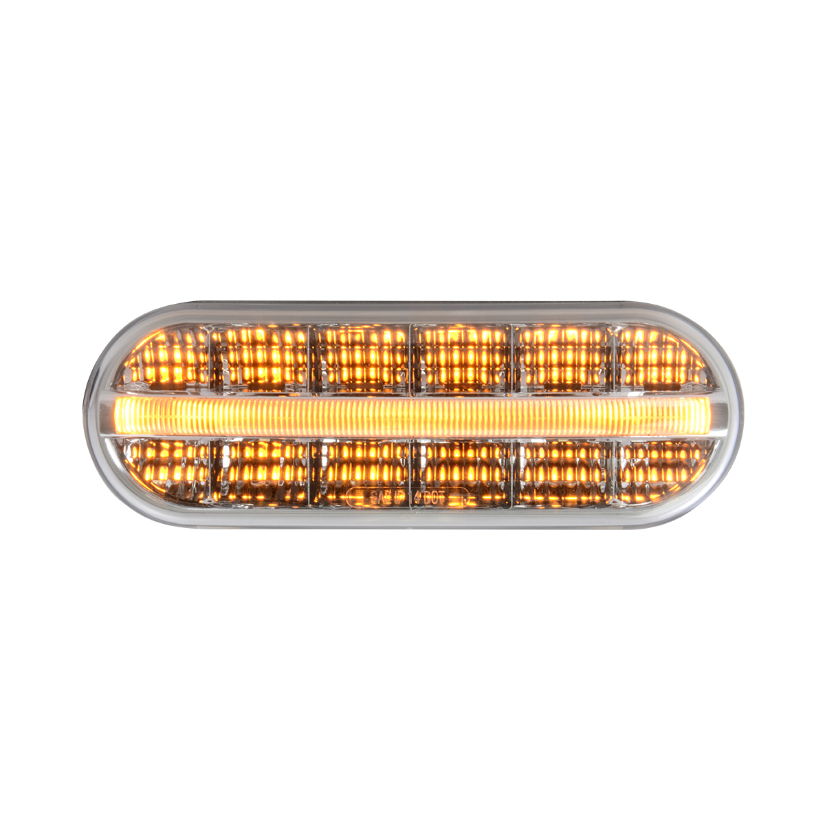 74851 Oval Prime Spyder LED Light in Amber/Clear