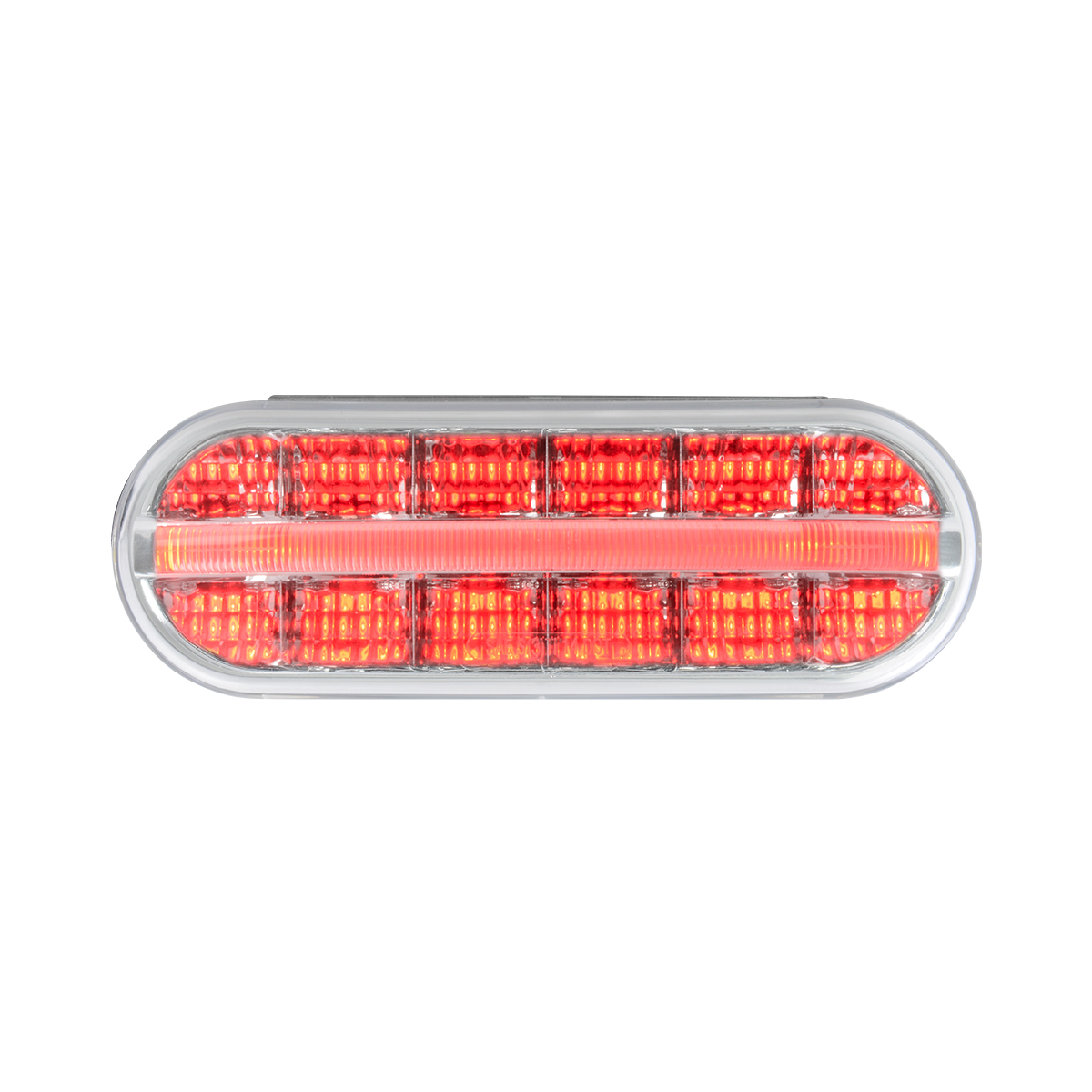 74853 Oval Prime Spyder LED Light in Red/Clear