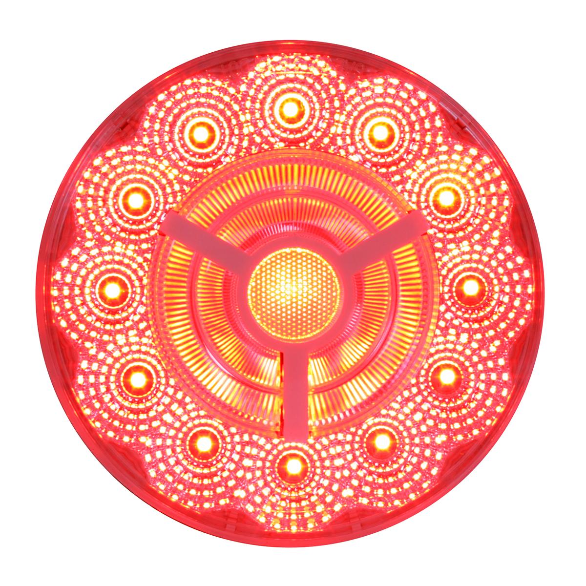 "74873 4"" Prime Spyder LED Light in Red/Clear"