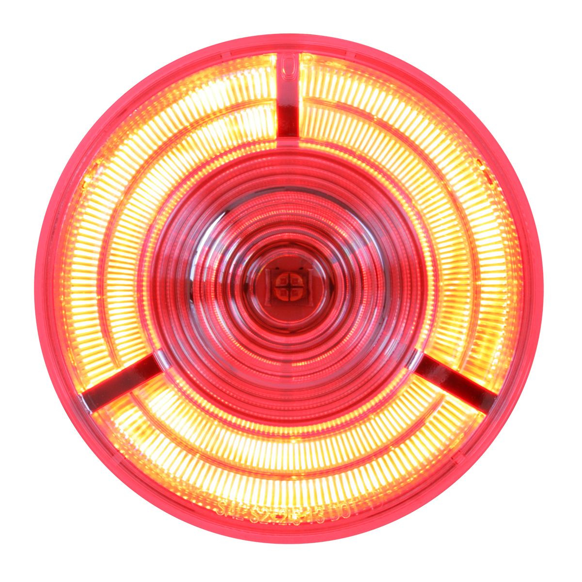 "74881 4"" Prime LED Light in Red/Clear"