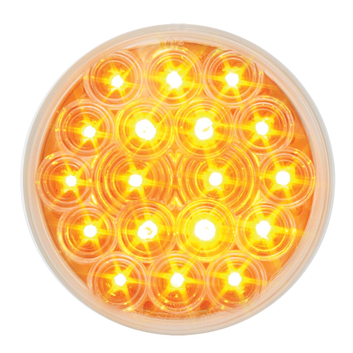 """76451 4"""" Fleet LED Light in Amber/Clear"""