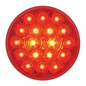 "76452 4"" Fleet LED Light in Red/Red"