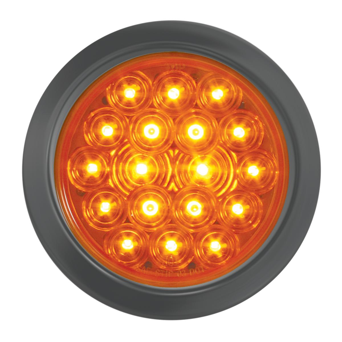 """76455 4"""" Fleet LED Light w/ Black Rubber Grommet"""