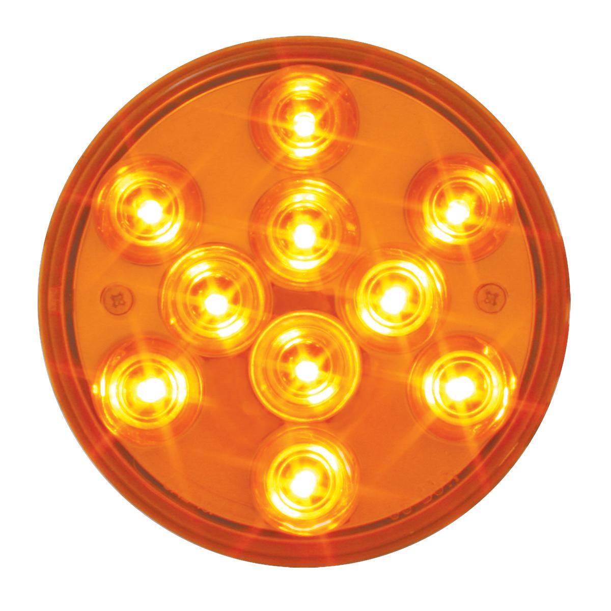 """76840 4"""" Mega 10 Plus LED Light in Amber/Amber"""