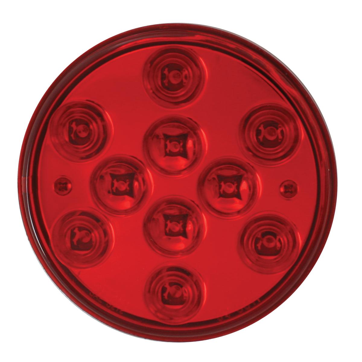 """76842 4"""" Mega 10 Plus LED Light in Red/Red"""
