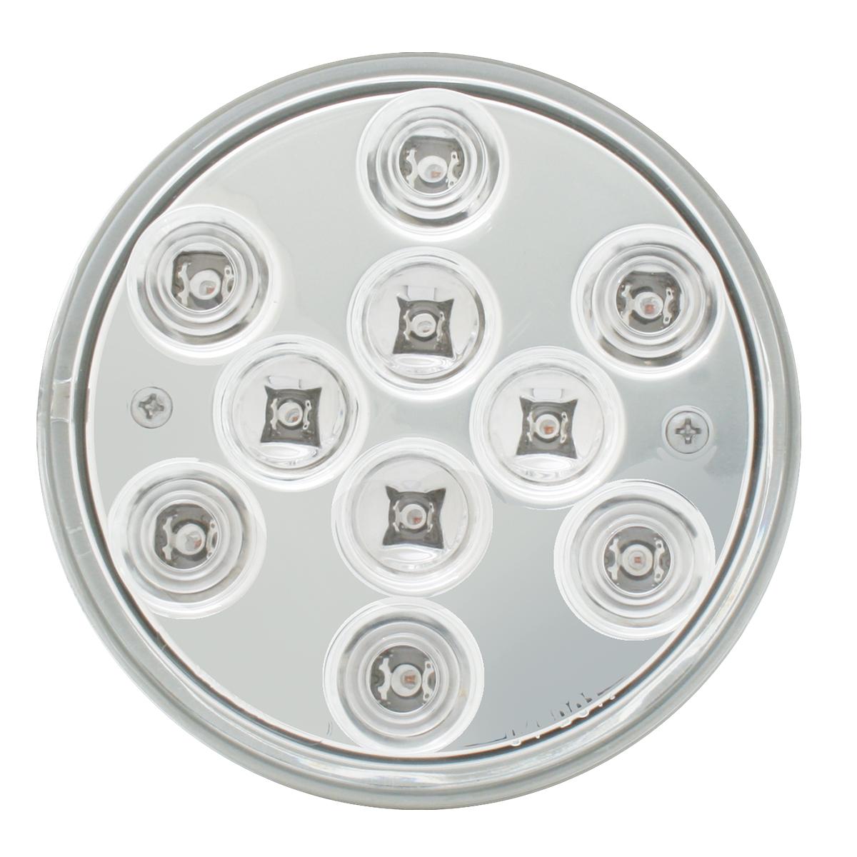 "4"" Mega 10 Plus LED Light in Clear Lens"