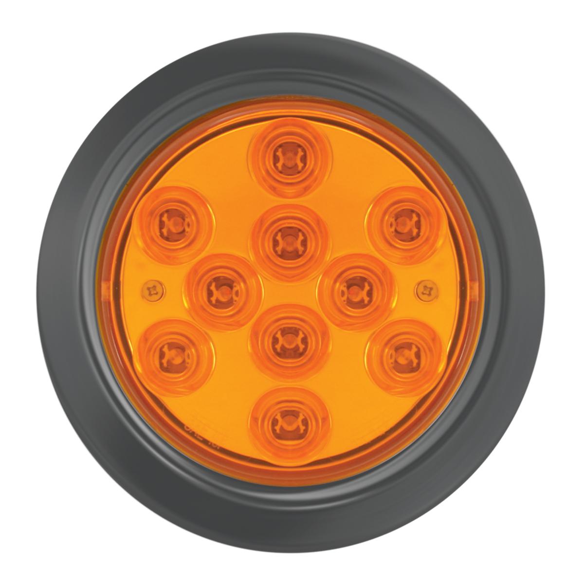 "76844 4"" Mega 10 Plus LED Light w/ Black Rubber Grommet"