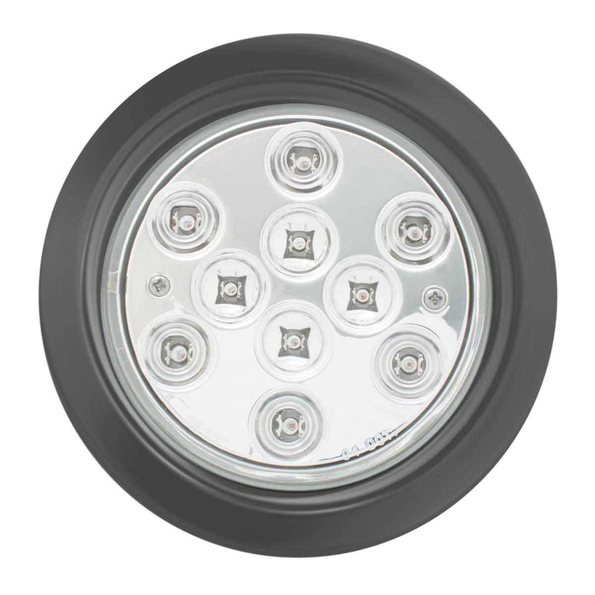 "4"" Mega 10 Plus LED Light w/ Black Rubber Grommet"