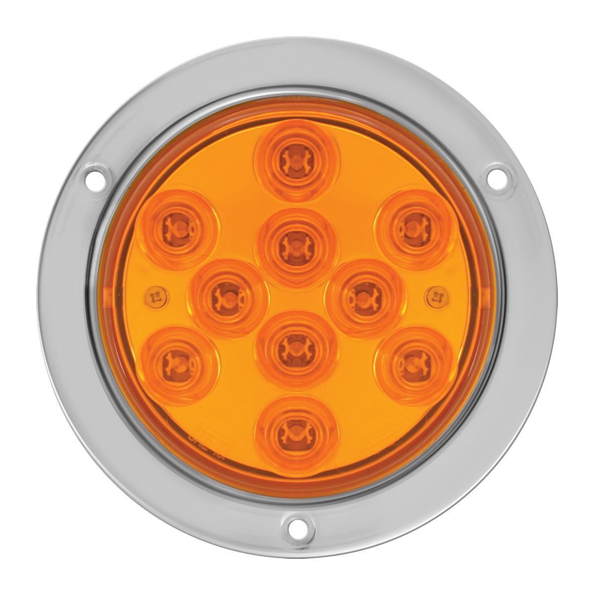 """76850 4"""" Mega 10 Plus LED Light w/ Stainless Steel Bezel"""