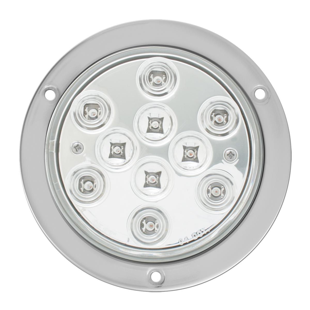 """4"""" Mega 10 Plus LED Light w/ Stainless Steel Bezel"""