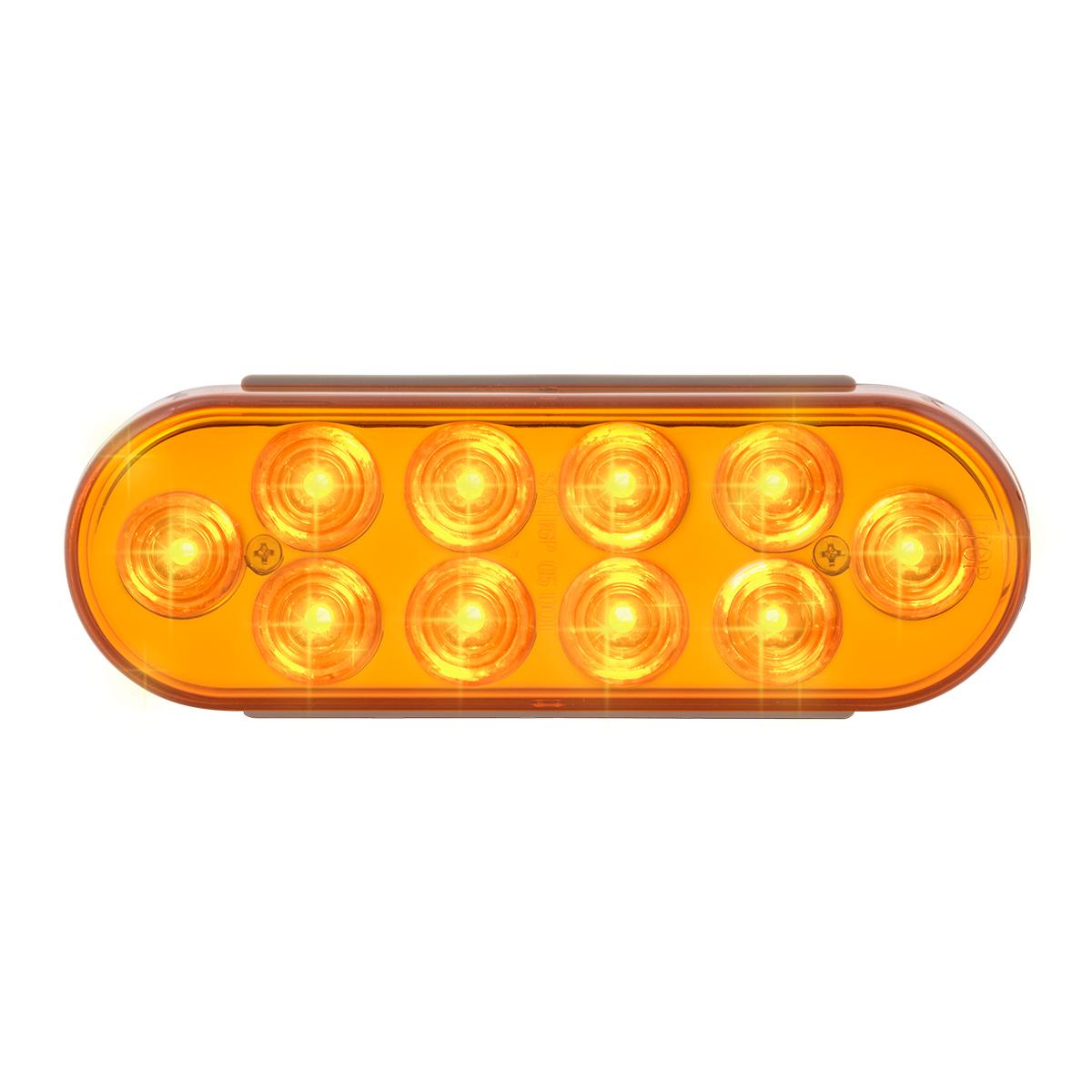 76860 Oval Mega 10 Plus LED Light in Amber/Amber