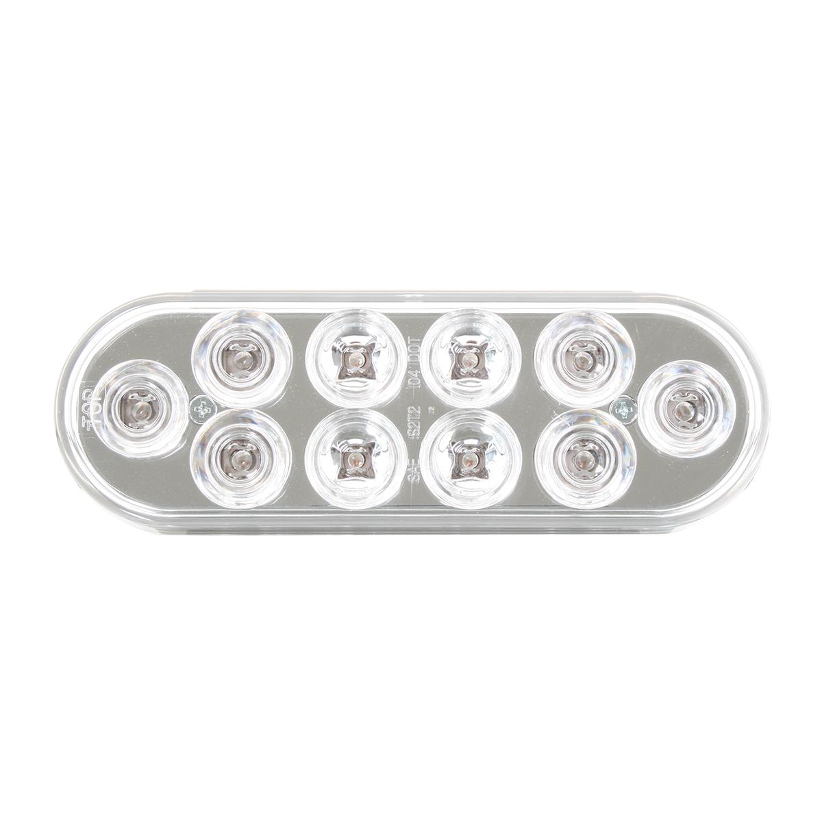 Oval Mega 10 Plus LED Light in Clear Lens