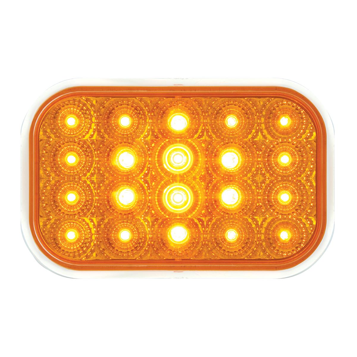 77010 Rectangular Spyder LED Light in Amber/Amber