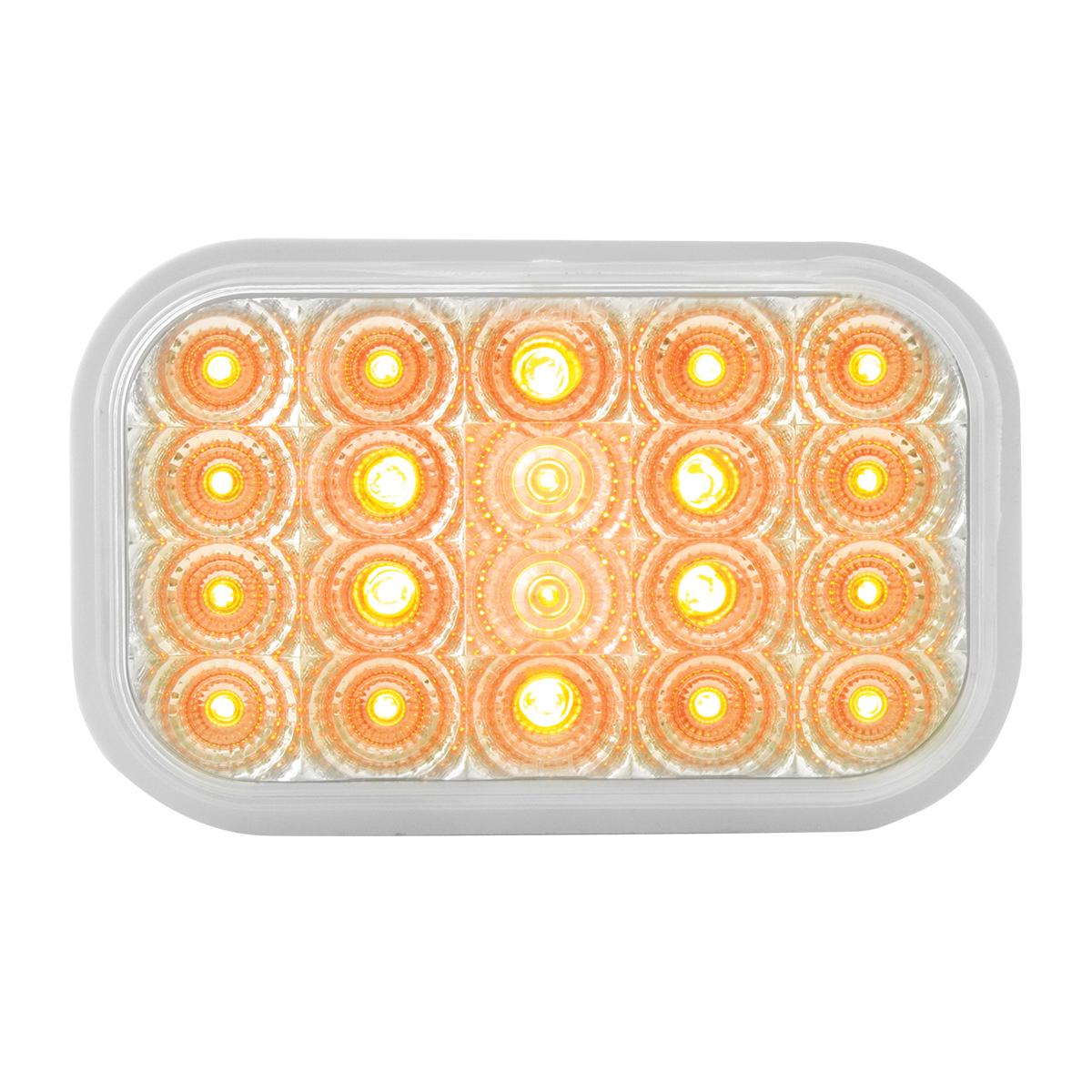 77011 Rectangular Spyder LED Light in Amber/Clear