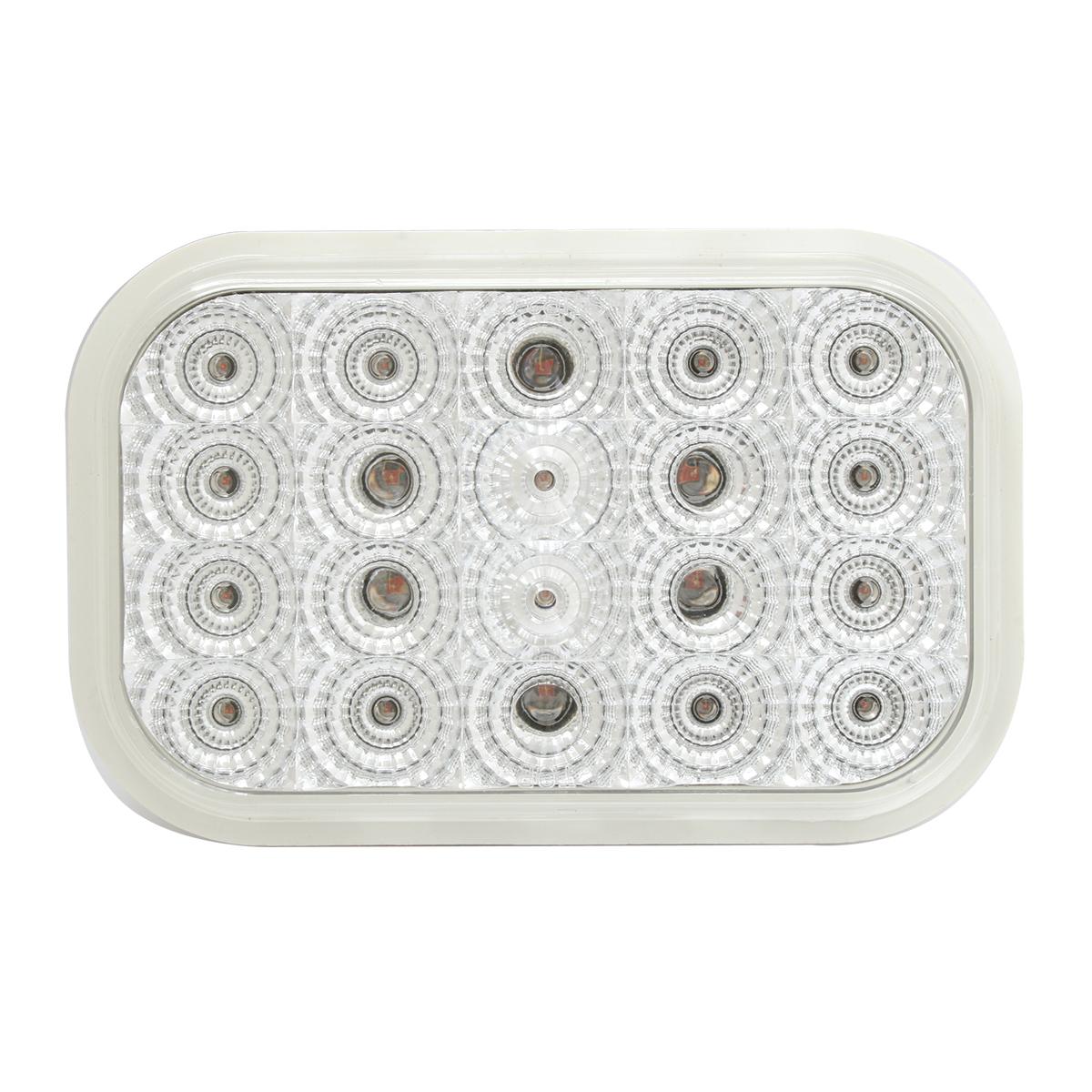 Rectangular Spyder LED Light in Clear Lens