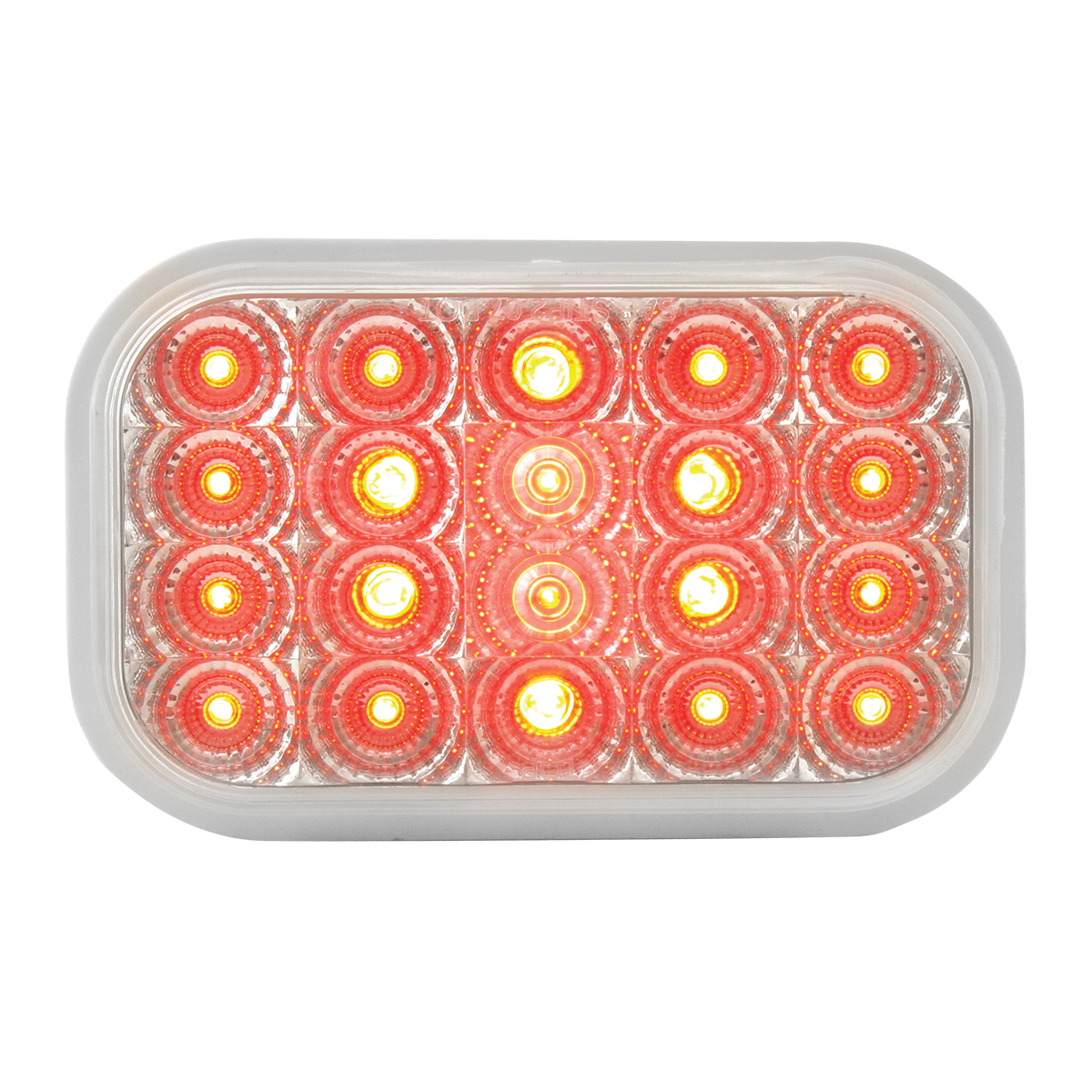 77014 Rectangular Spyder LED Light in Red/Clear