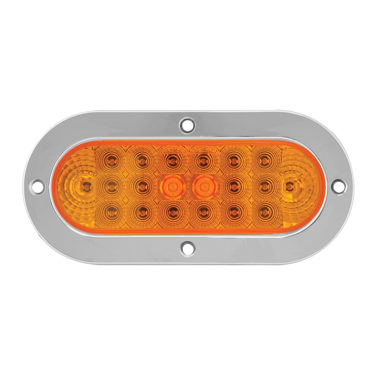 Oval Spyder LED Light w/ Stainless Steel or Chrome Plastic Bezel